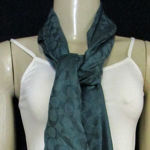 Coach Dark Turquoise Scarf One Size